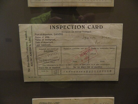 From the Museum itself, one of the many inspection cards they have on display.