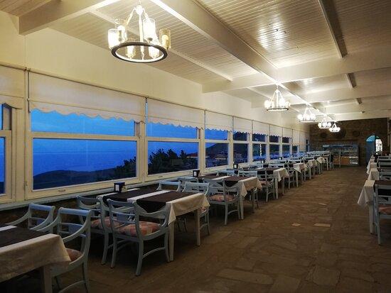 Kapalı restorant kısmı