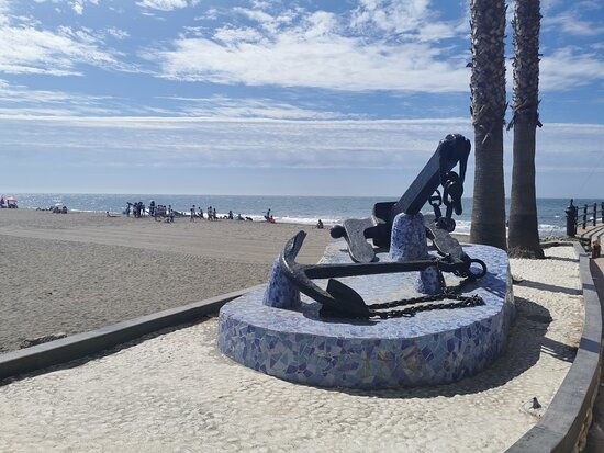 La playa esta mañana.