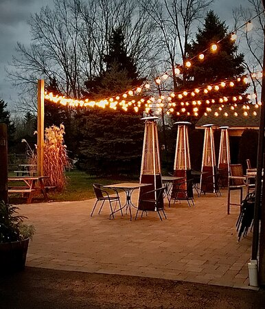 Fall evening on the Garden Patio