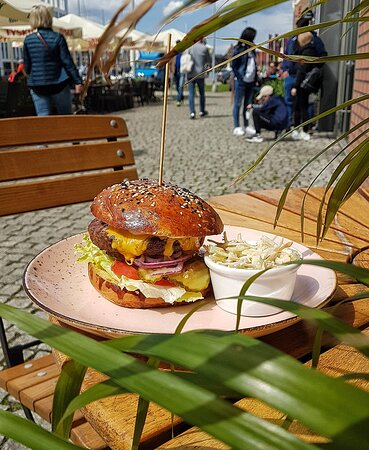 One of our famous burgers
