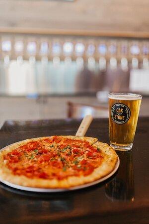 Keep it simple. Beer & Pizza.