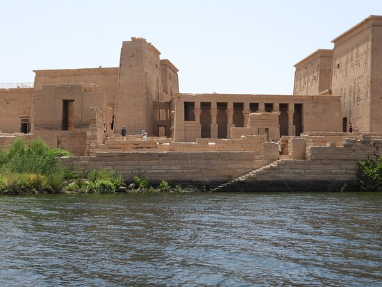 The beautiful Philae temple.  Lots of stories behind this one, worth seeing again and again.  A lot of cultures in this temple and they have all left their mark.