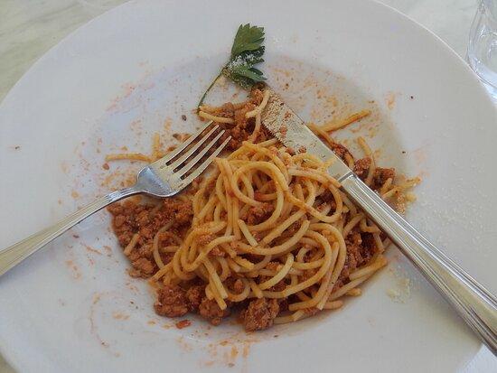 A tasty choice of spaghetti Carbonnara