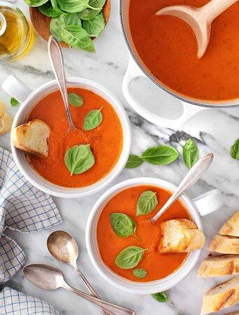 Tomato Basil our famous Soup
