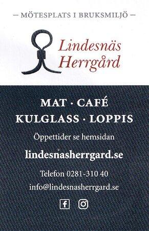 Lindesnäs Herrgård, visitkort