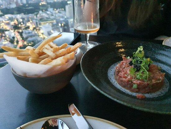 Beef Tartare from SKAI bar. Amazing stuff.