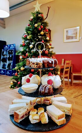 Christmas time - Full of festive cheer - and afternoon tea! Afternoon tea available all year round!