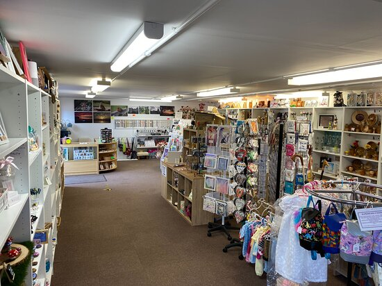 From the back entrance looking up the shop