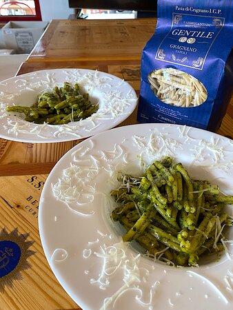 Un fuori menu? Casarecce pastificio Gentile di Gragnano con pesto alla genovese appena fatto.