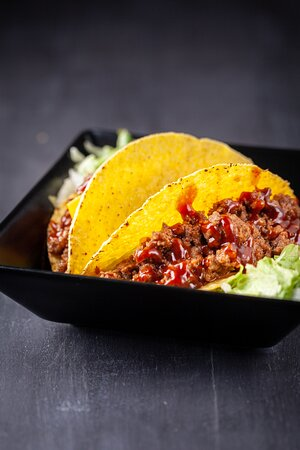 Tex-Mex. Tacos di Manzo