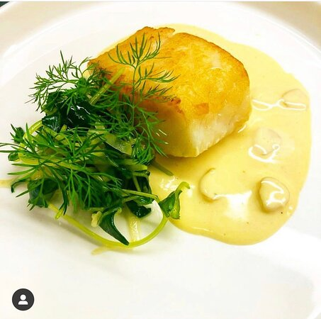 Cod, Watercress, Fennel, Dill and Razor Clam Beurre Blanc