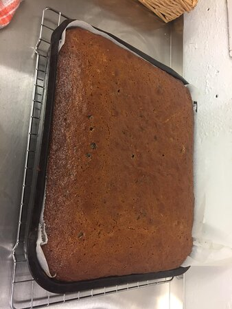 Sticky Toffee Pudding just out of the oven