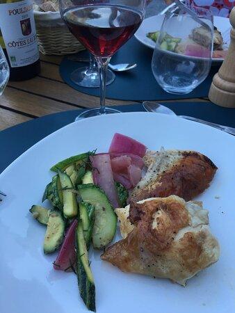 Vollaille Rotie et légumes du jardin