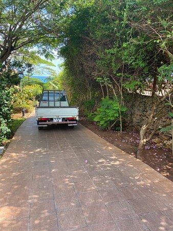 Vehicle blocking path