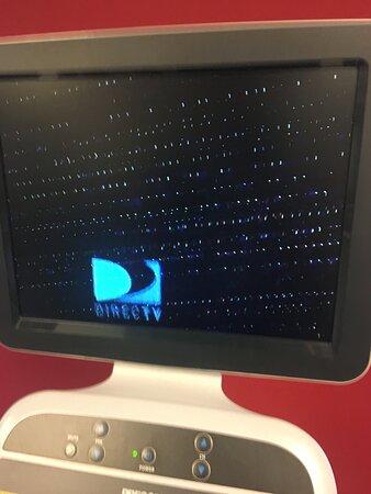 Broken TV on the treadmill