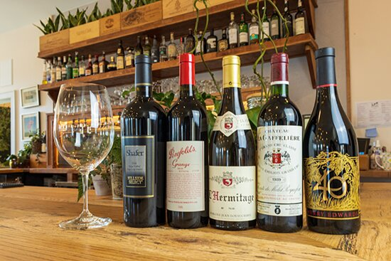 A few bottles from our wine selection.