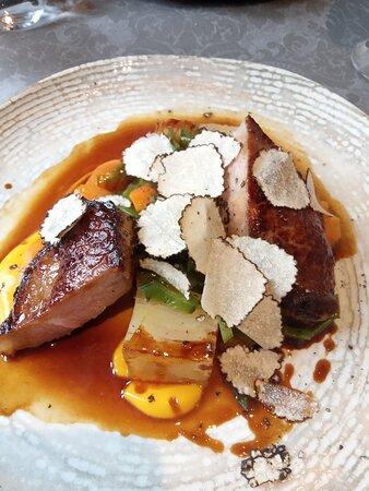veau  avec copeaux de truffe blanche...un délice