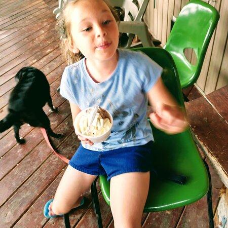 Kiley and ice cream