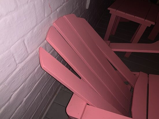 Broken chair on private patio