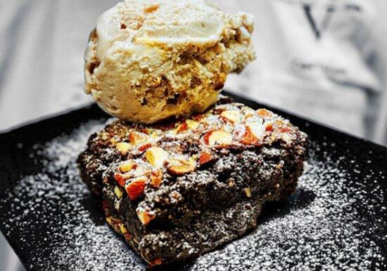 Brownie con Gelato!