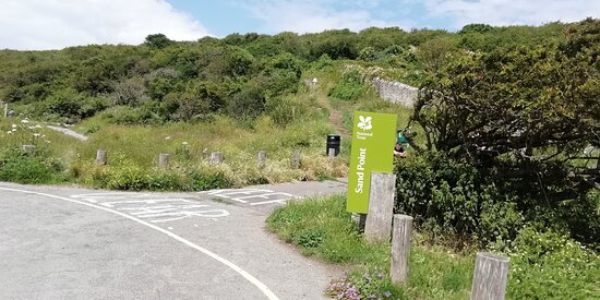 Entrance to Sand Point pathway and Middle Hope