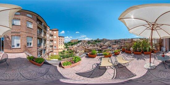 camera superior. terrazza panoramica. Panoramic terrace superior room