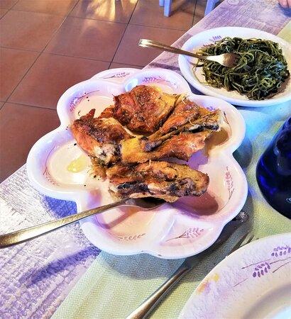 Pollo e verdura.