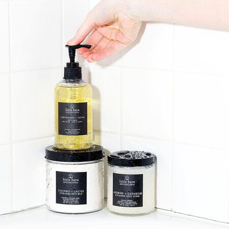 Honeysuckle body wash and scrub that can be purchased in the Mother's Natchez store.