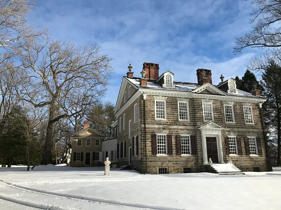 Cliveden's Main House in snow