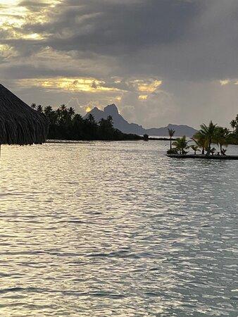 View over Coral Gardens to Bora Bora
