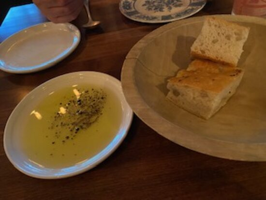 Bread n oil. Just right!