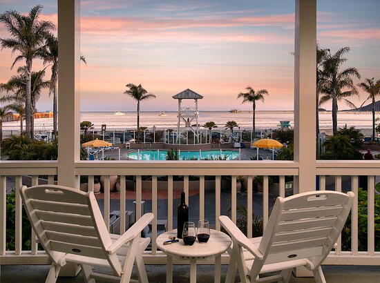Ocean and Pool View Master Suite Balcony at Sunset
