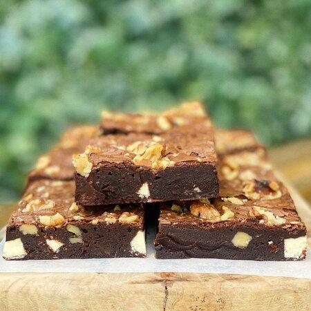 White Choc & Walnut Brownies homemade by Verity