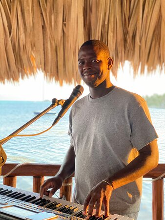 Orvin makes his weekly appearance at 303 Belize Caribbean music from 6-9 PM