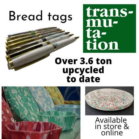 These are some of the products we make onsite in Robe from used breadtags