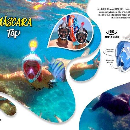 Maracajau, RN: Máscara top você encontra nos parrachos de Maracajaú com a @Discoveryturnatalrn - @Jaderguiarnbrasil 📲 084 988435127 Whatsapp