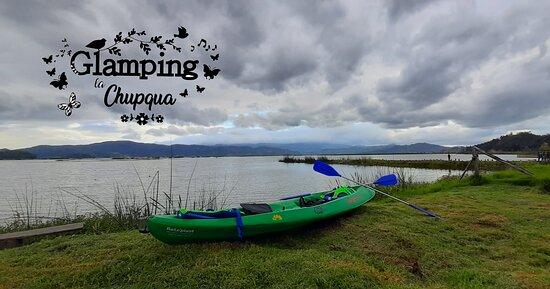Kayak en la Laguna de Fúquene con Kaminantes