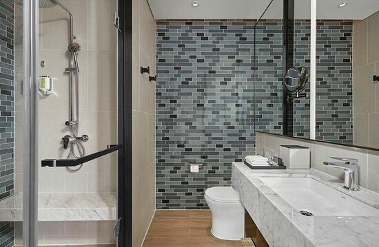 Separated bathroom