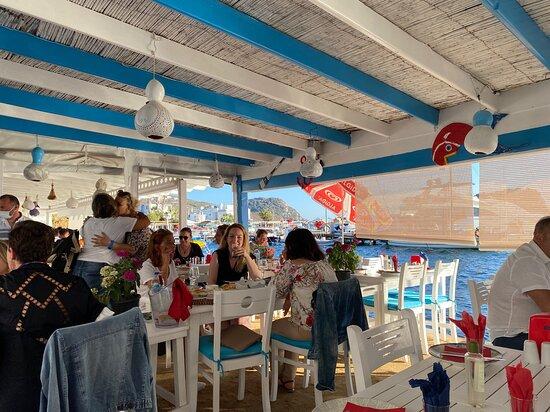 Karafaki restaurant on the beach with view