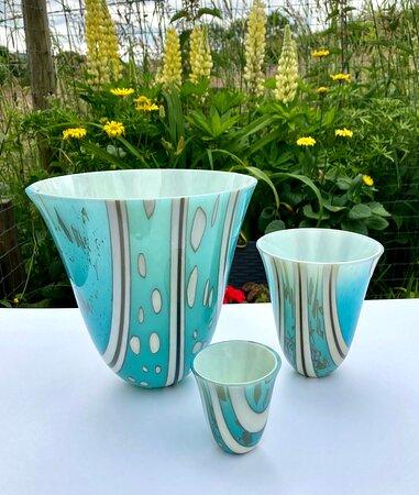 Drop vases by Ailsa Nicholson