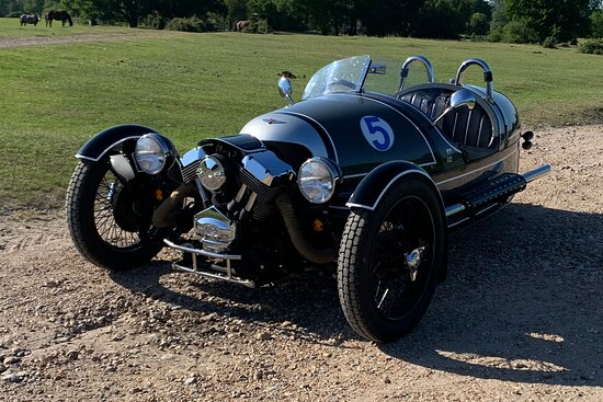 Morgan 3 Wheeler for self-drive hire in the New Forest