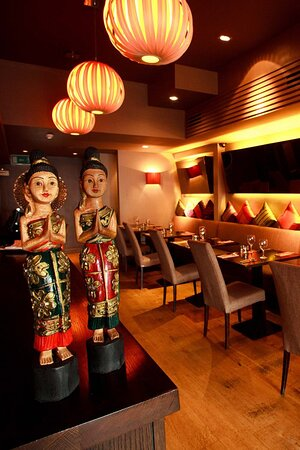 This is the interior of our restaurant. Delicious Thai food cooked by authentic Thai chefs in Drumcondra since 1992