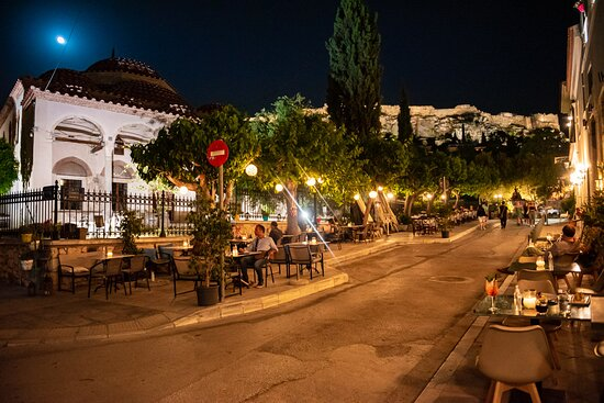 This is the view and the vibe you will get sitting at our outside tables