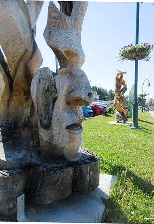 Une des nombreuses sculptures situées le long de la Promenade