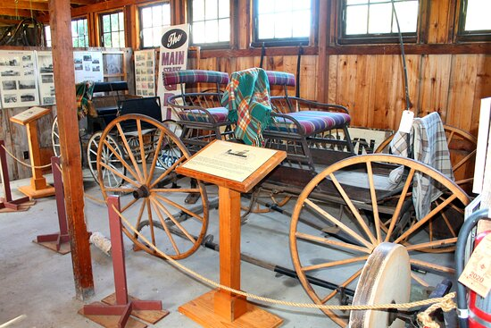 Carriages in the Reichert family barn at Southold Historical Museum.