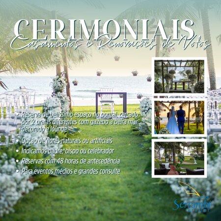 Cerimonias de casamentos, renovação de votos e bodas. Consulte vendas@serrambiresort.com