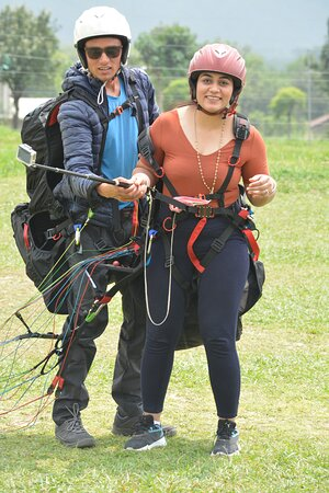 My passenger is fully satisfied paragliding with me eny more intrsted people please 🙏contact me 7833965478