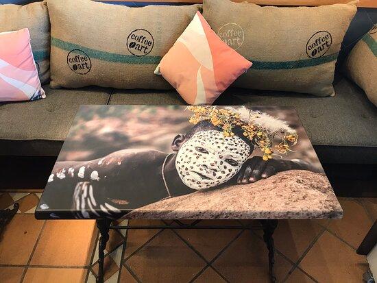 Mijas Pueblo, Spanje: Coffeeart