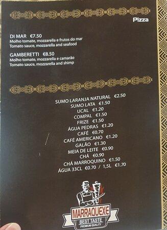 Armacao de Pera, Portugal: Menu